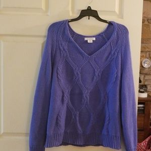 Blue Liz Claiborne sweater